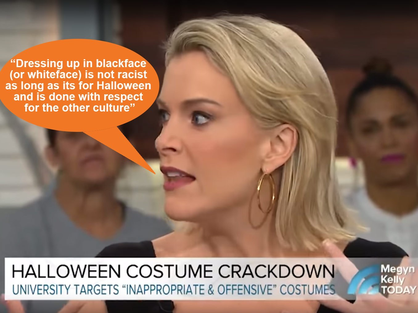 Megyn Kelly's controversial blackface comments