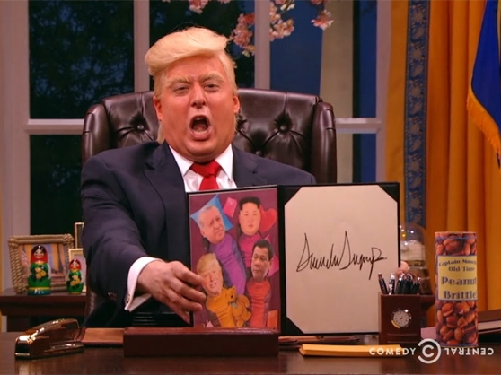 Anthony Atamanuik as President Donald Trump in The President Show