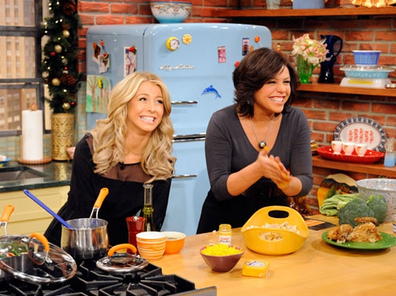 Rachael Ray on set of her daytime talk show