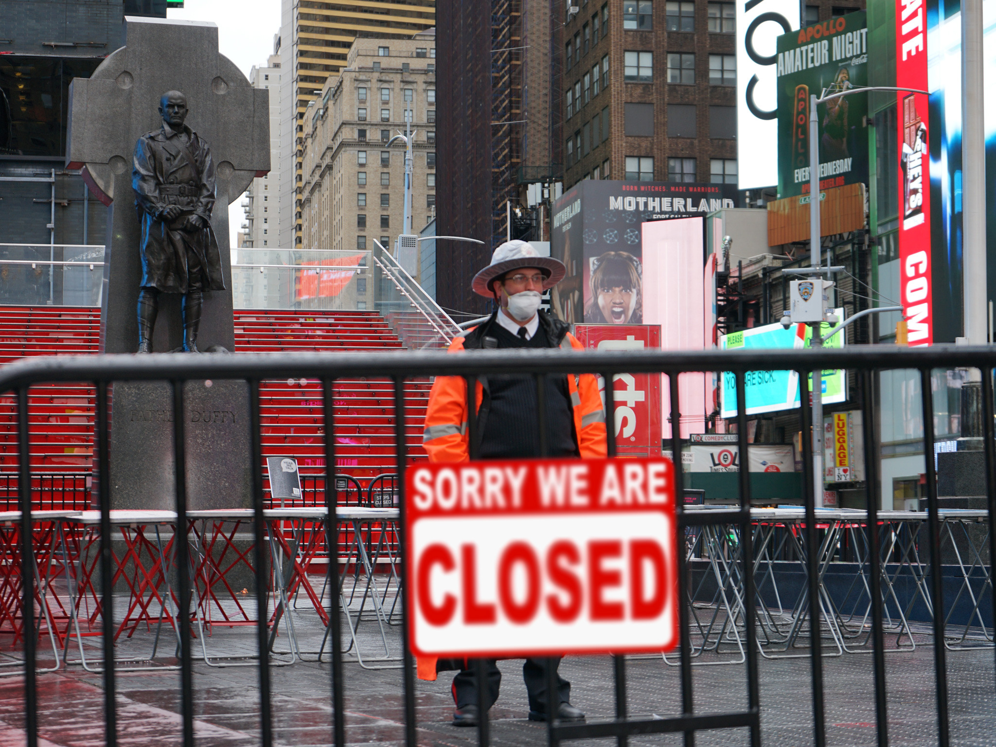 Times Square Broadway Closed