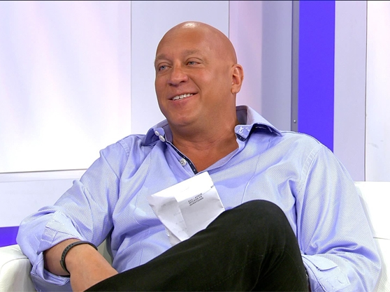 Steve Wilkos sits down on his daytime talk show the Steve Wilkos Show