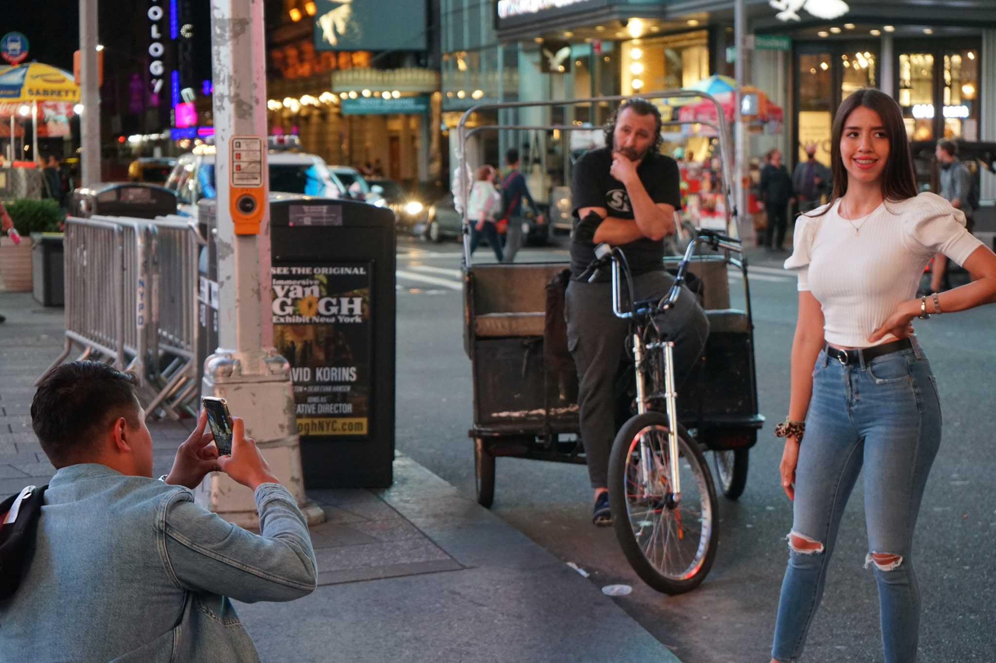 Tourists in Times Square