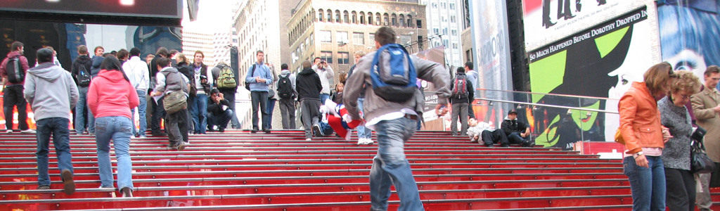 TKTS Red Stairs Stripe