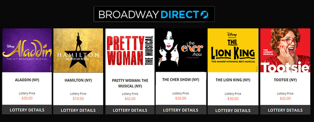 BroadwayDirect Inline Lottery Image