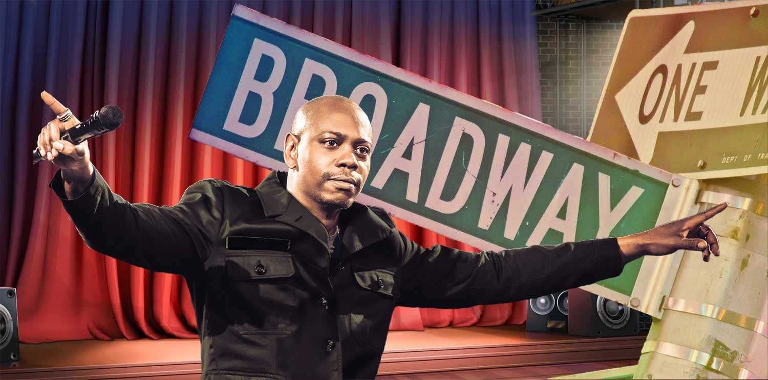 Dave Chappelle on Broadway inline