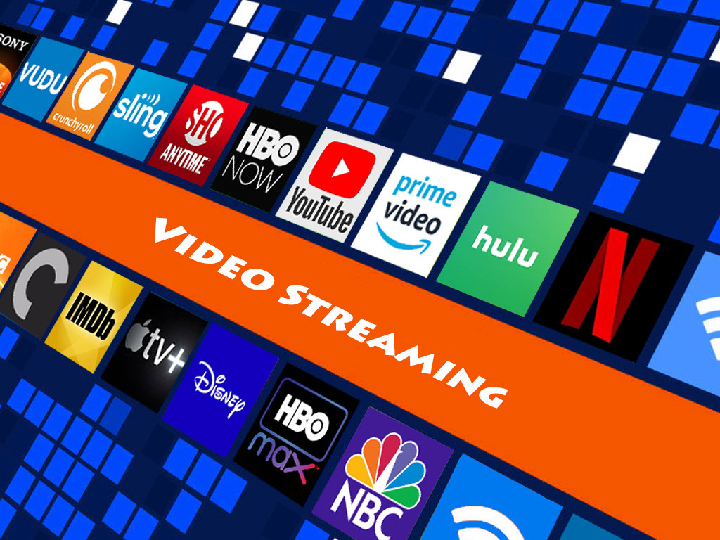 A small selection of the many online video streaming services