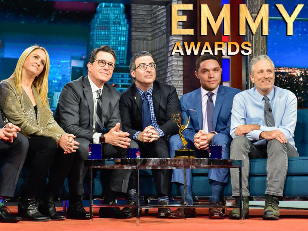 The Hosts of the Four New York New York Political Talk Shows Nominated For Emmy's with Jon Stewart
