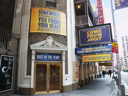 Come From Away Theatre Marquee