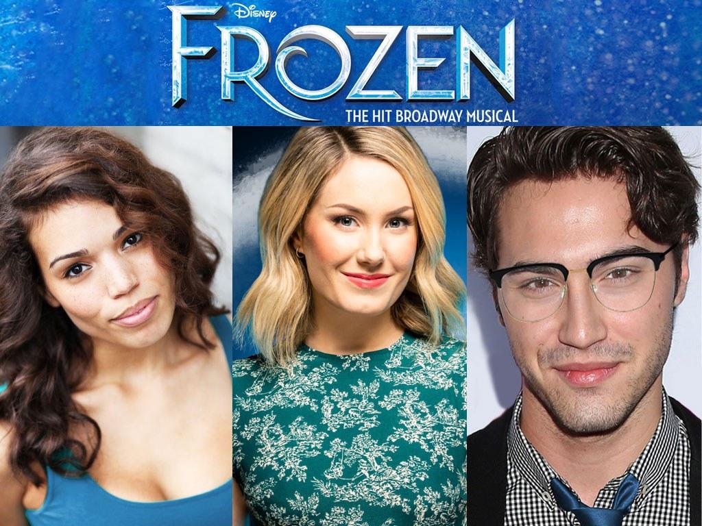 Frozen Broadway Cast Ciara Renée, McKenzie Kurtz, Ryan McCartan