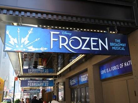 Frozen Broadway Show Marquee