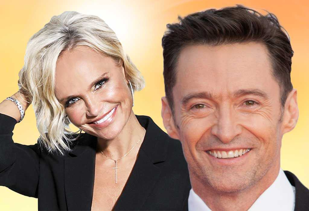 Kristin Chenoweth and Hugh Jackman