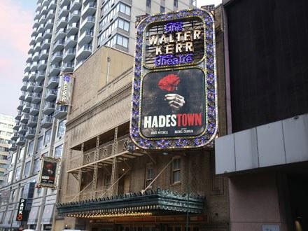 Hadestown Broadway Show Marquee
