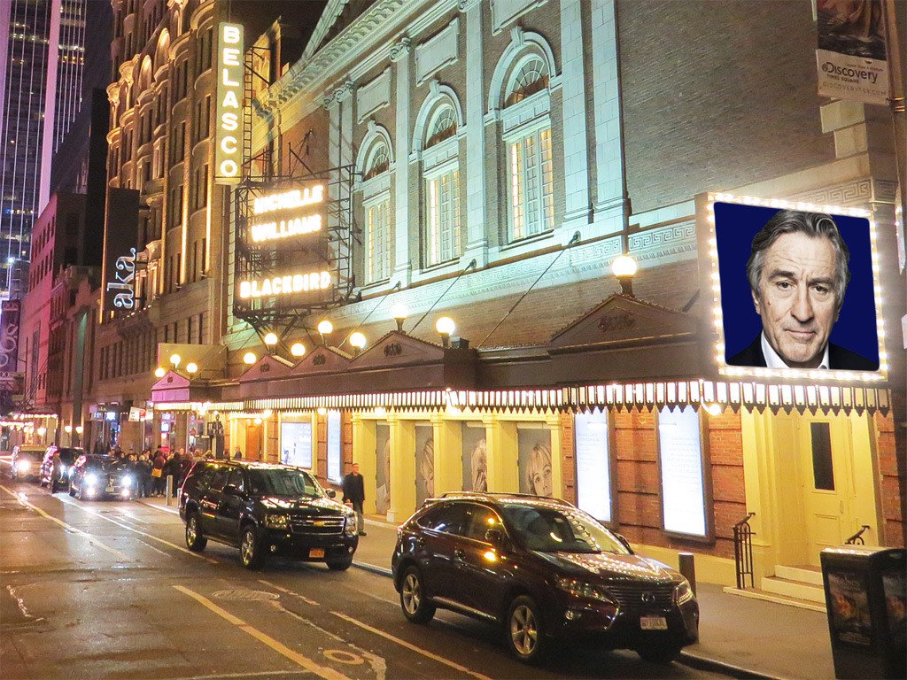 Robert De Niro on the Belasco Theatre Marquee