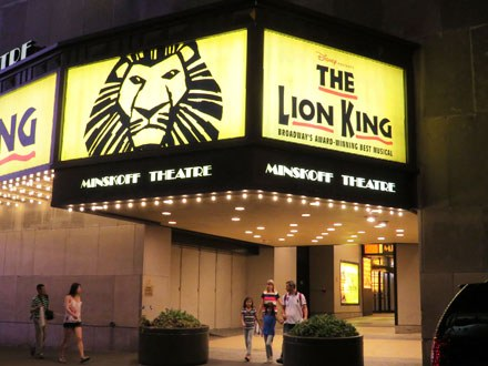 The Lion King Theatre Marquee
