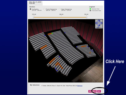 Telecharge Offers Discount Code Seat Selection