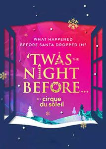 Cirque du Soleil Twas the Night Before Broadway Show Poster