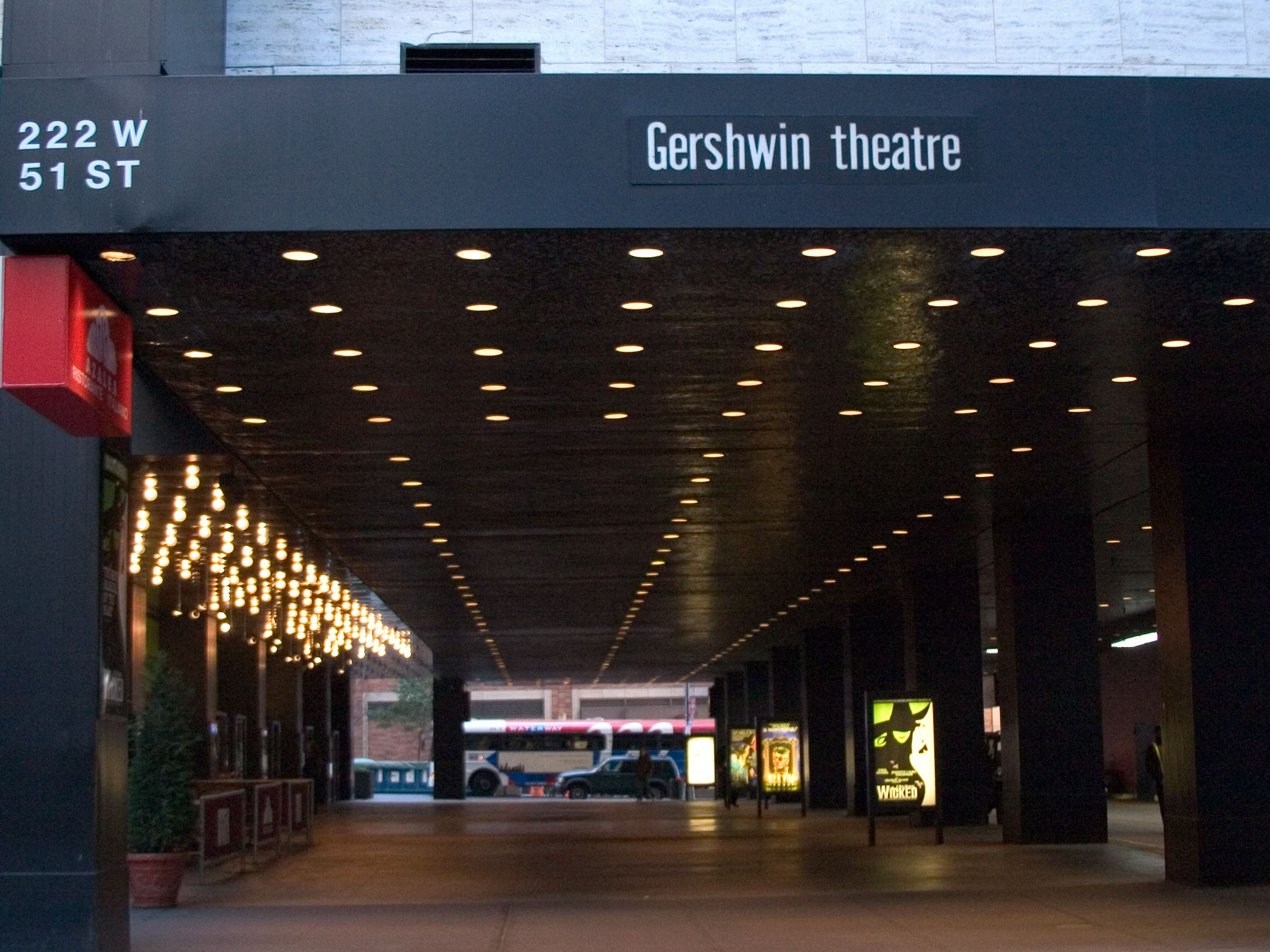 Gershwin Broadway Theatre Entrance