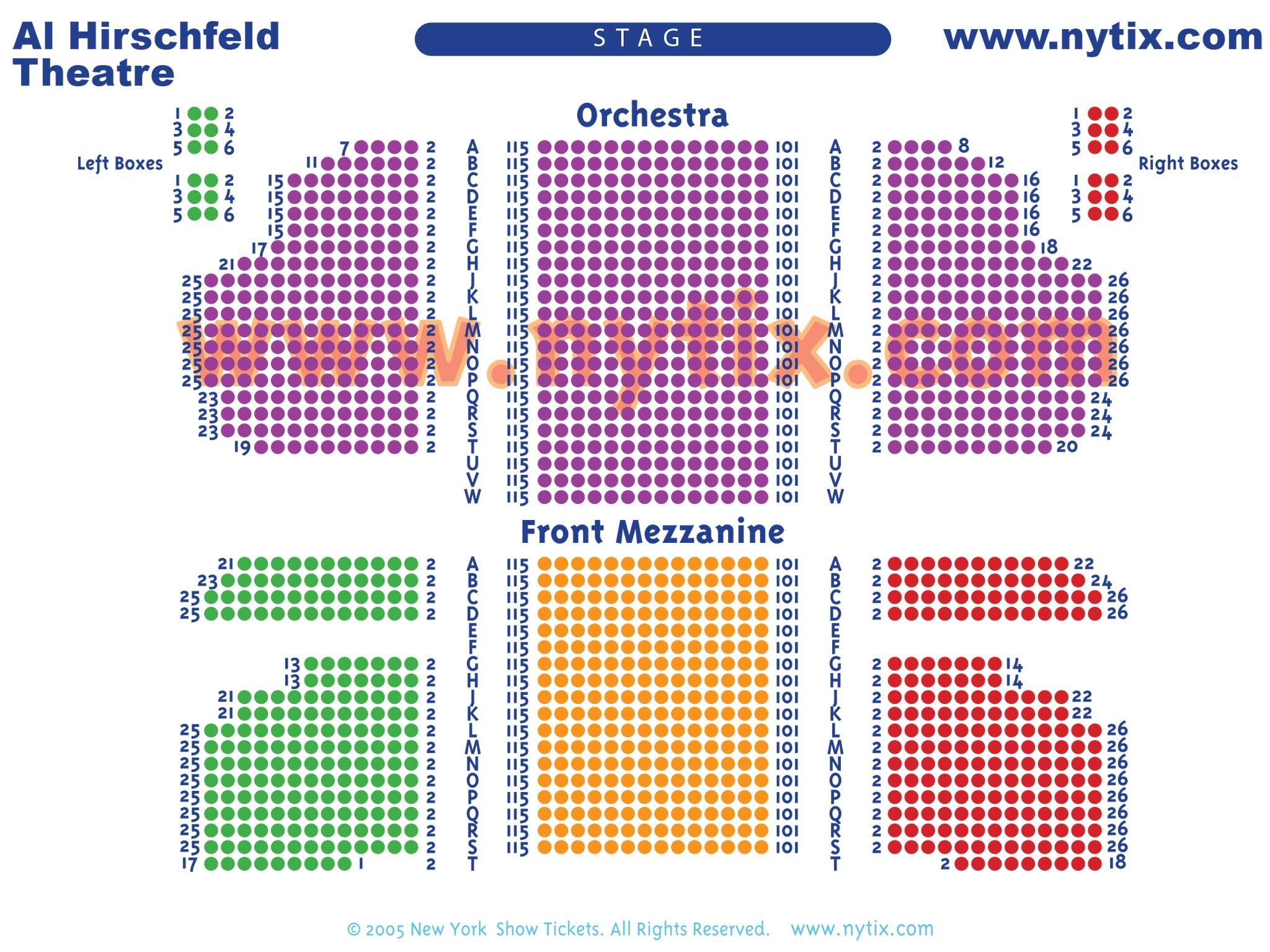 Al Hirschfeld Theatre Seating Chart