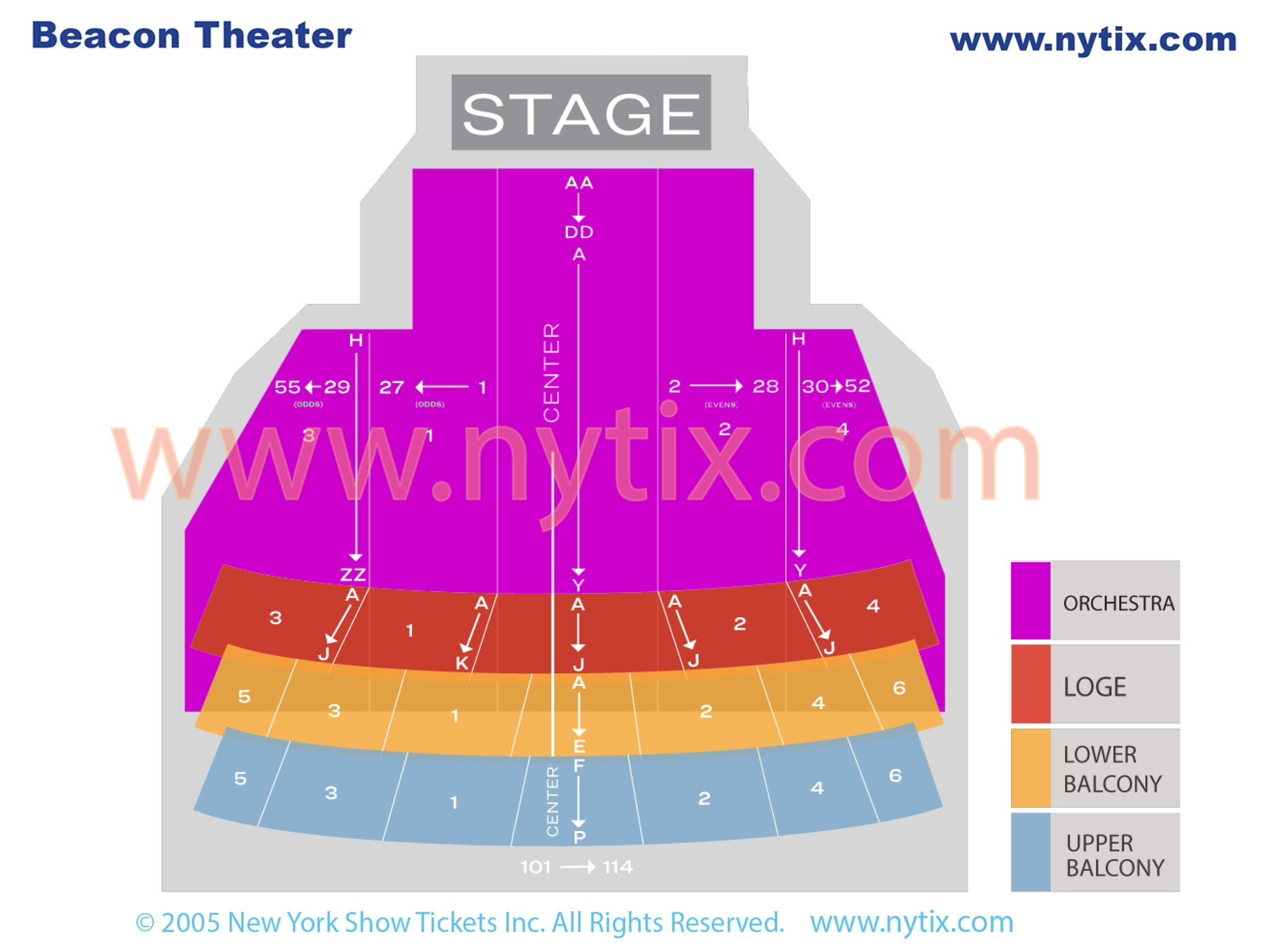 Beacon Broadway Theatre Seating Chart