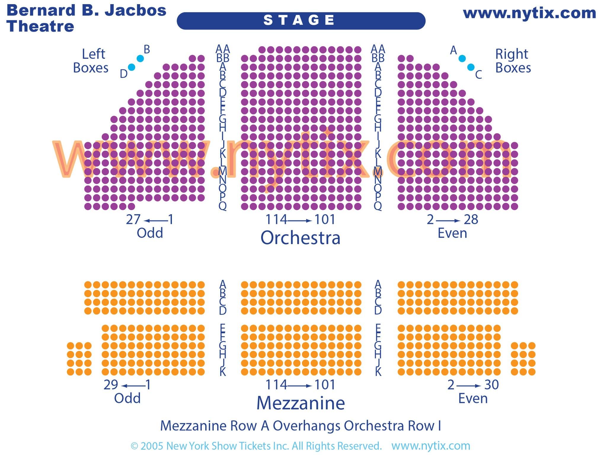 Bernard B Jacobs Theatre Seating Chart