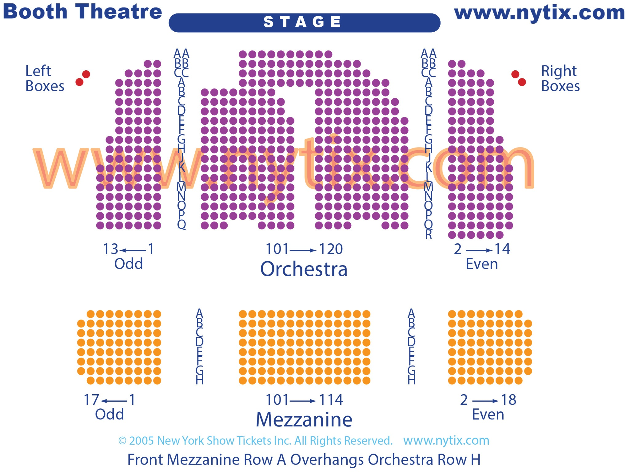 Booth Theatre Seating Chart