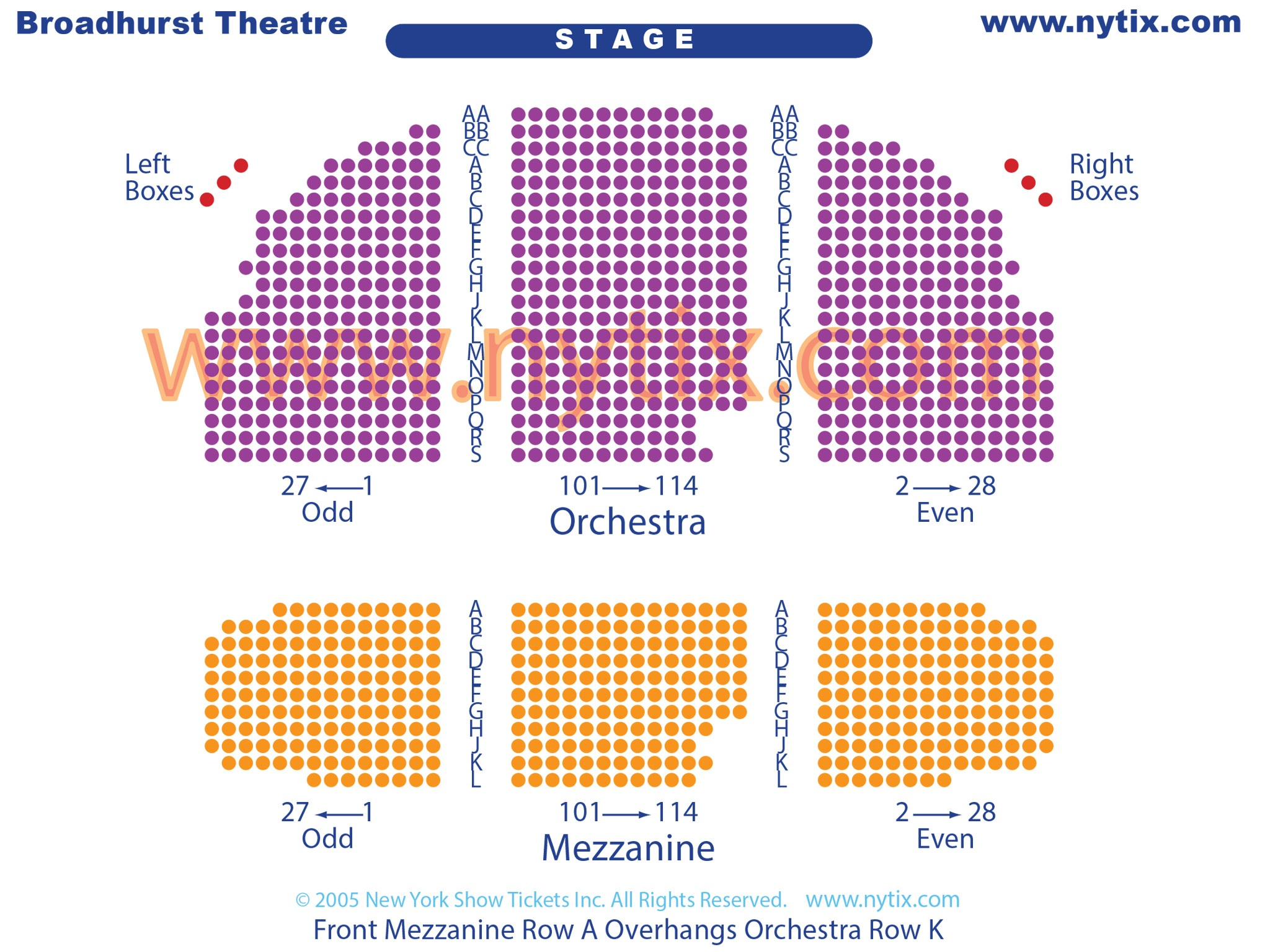 Broadhurst Theatre Seating Chart