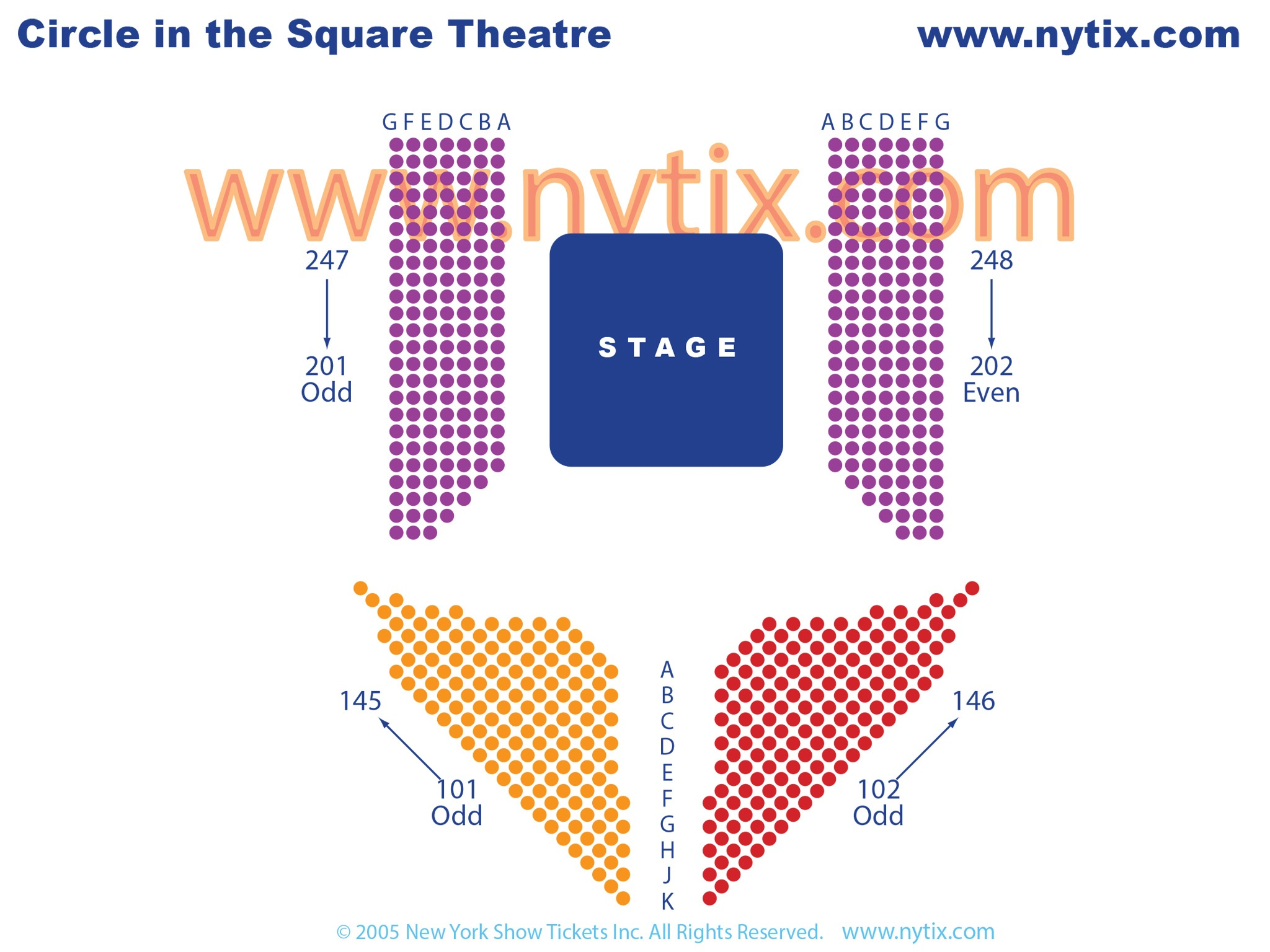 Circle In The Square Theatre Seating Chart