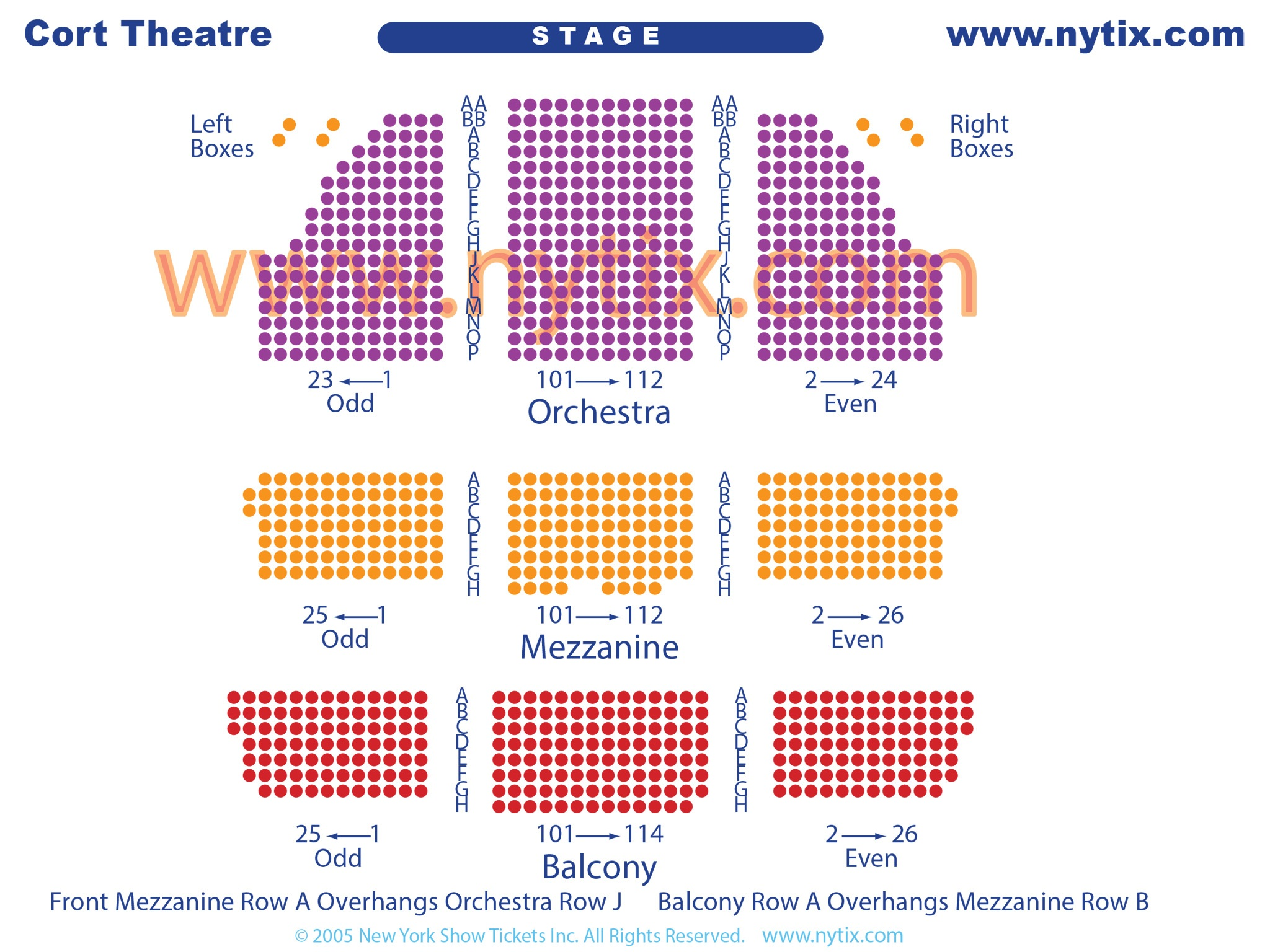 Cort Theatre Seating Chart