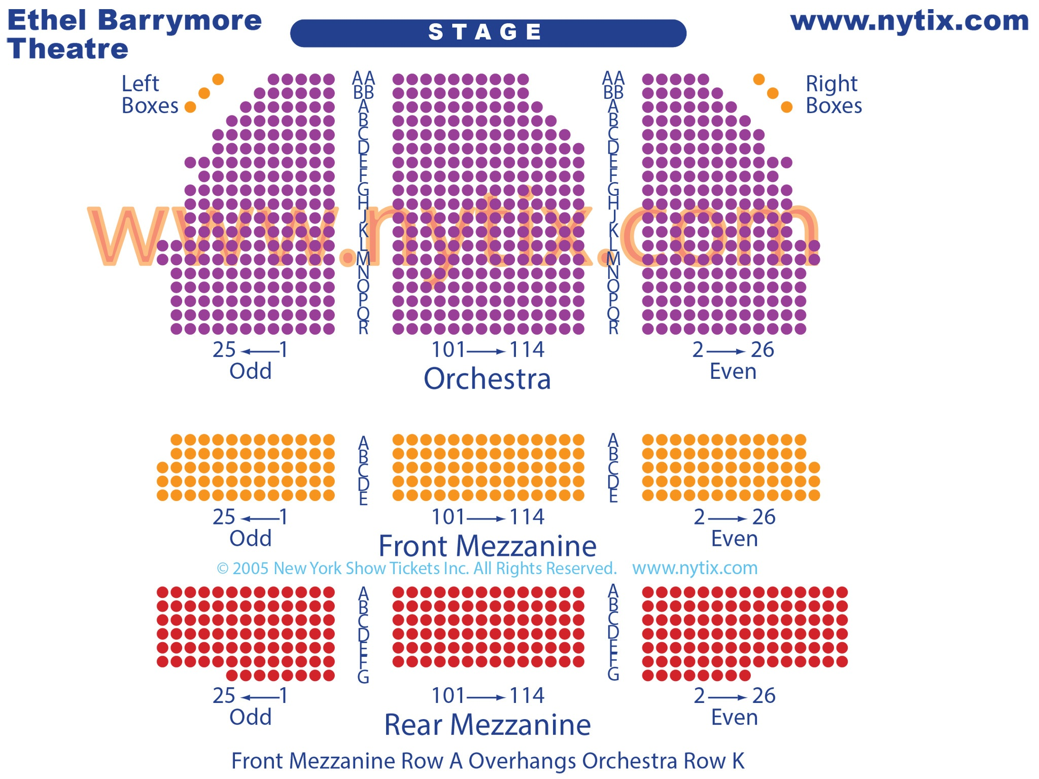 Ethel Barrymore Theatre Seating Chart