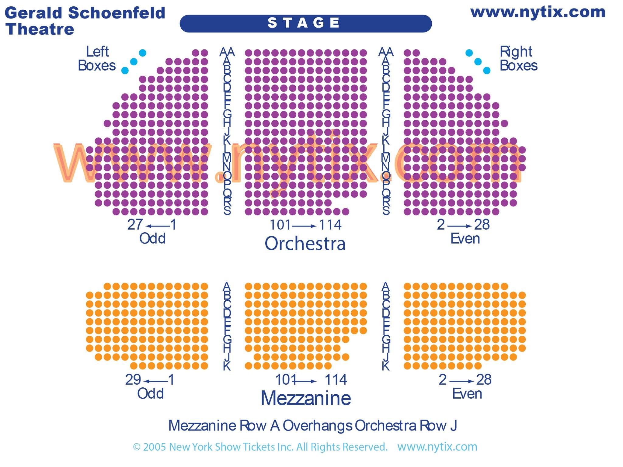 Gerald Schoenfeld Theatre Seating Chart