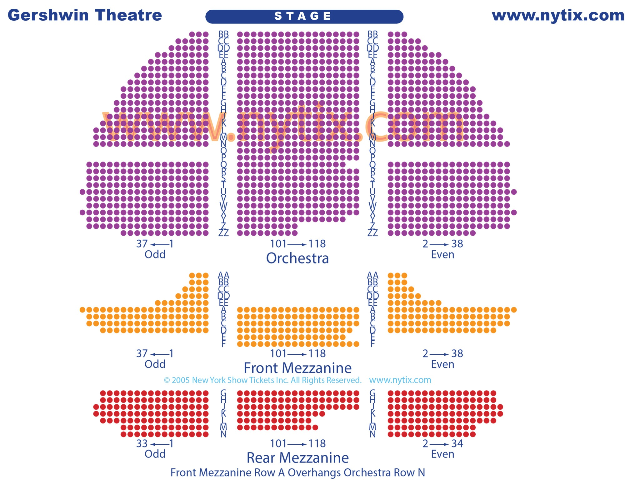 Broadway Gershwin Seating Chart