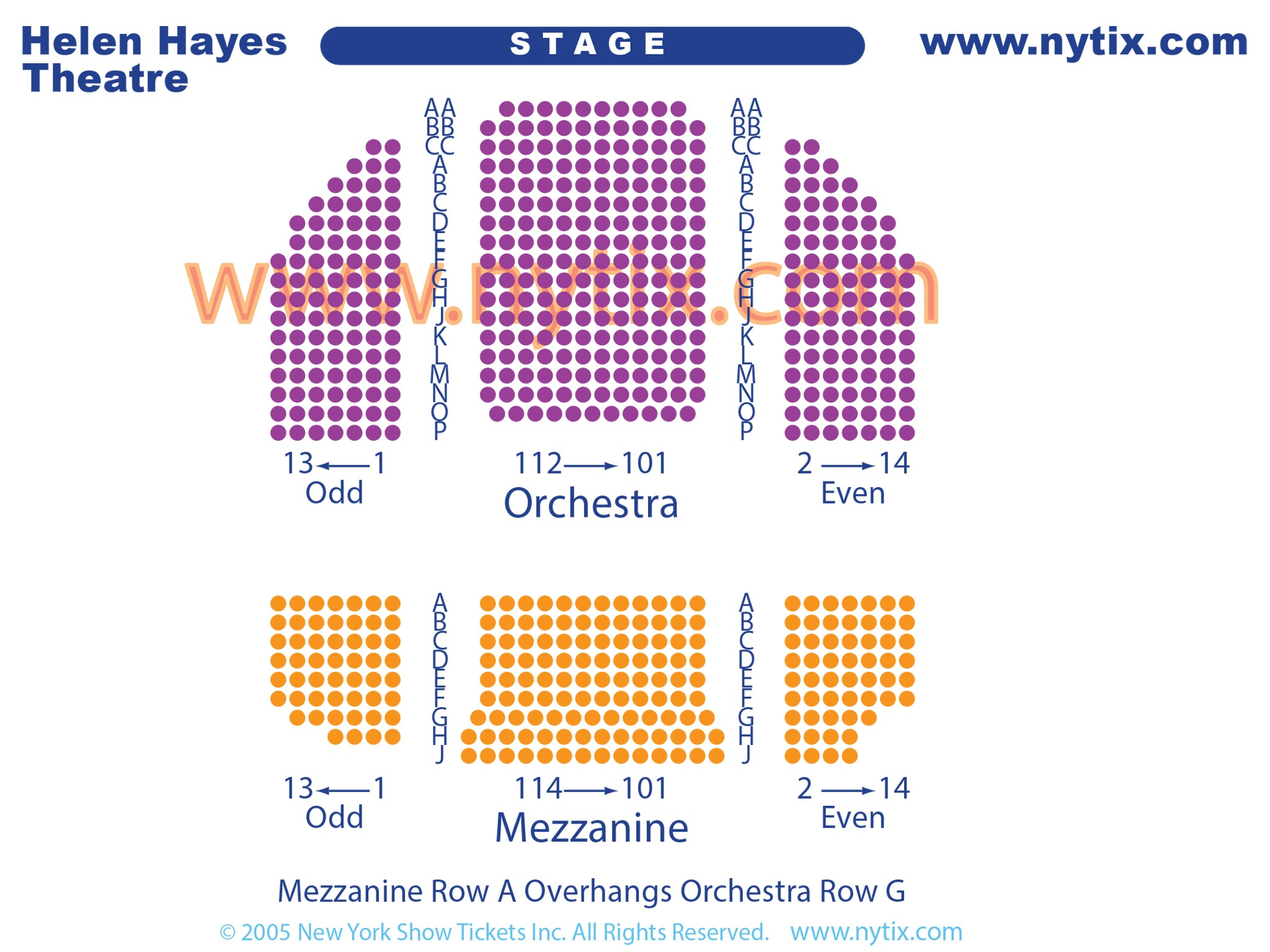 Helen Hayes Broadway Seating Chart