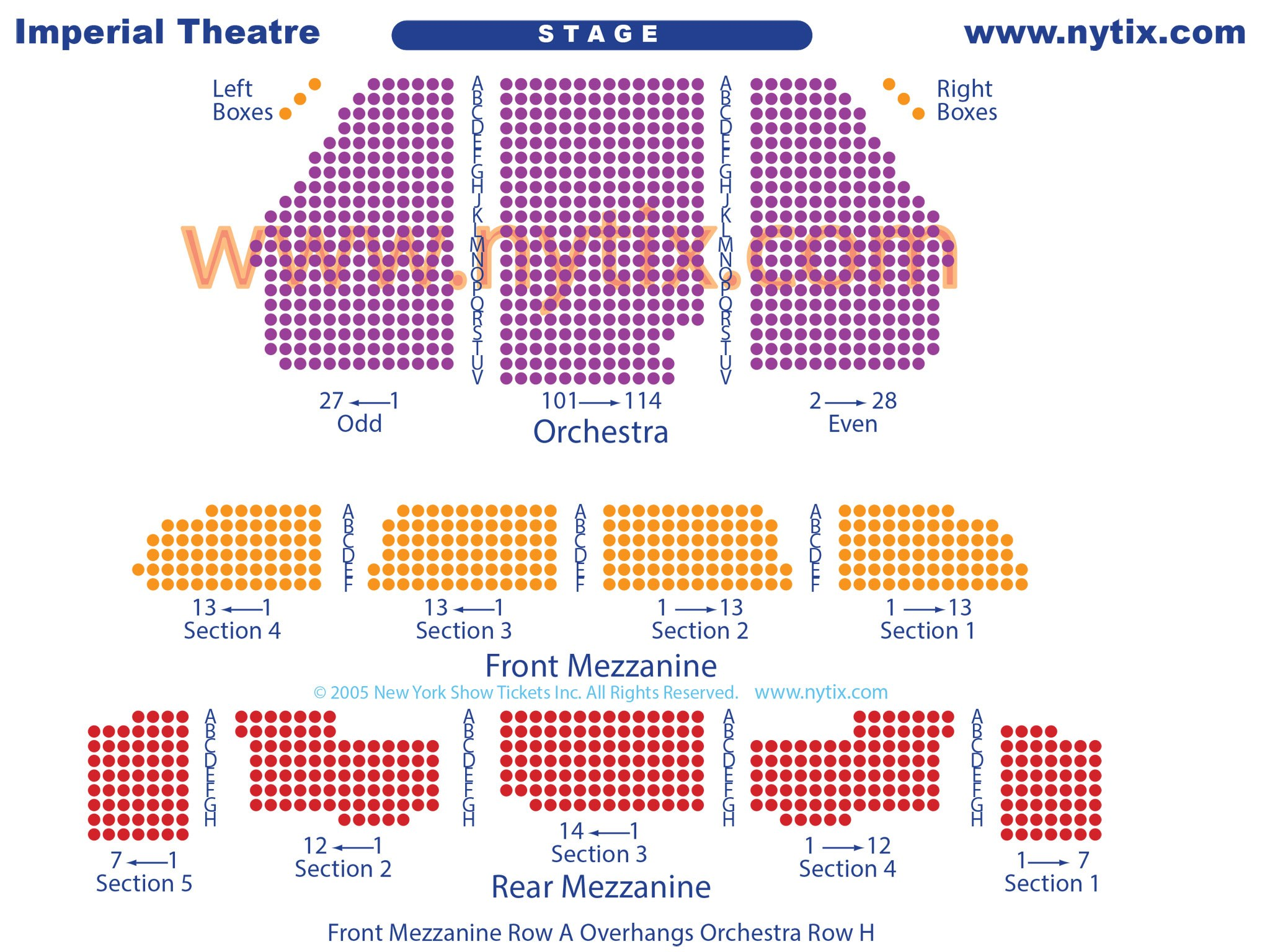 Imperial Theatre Seating Chart