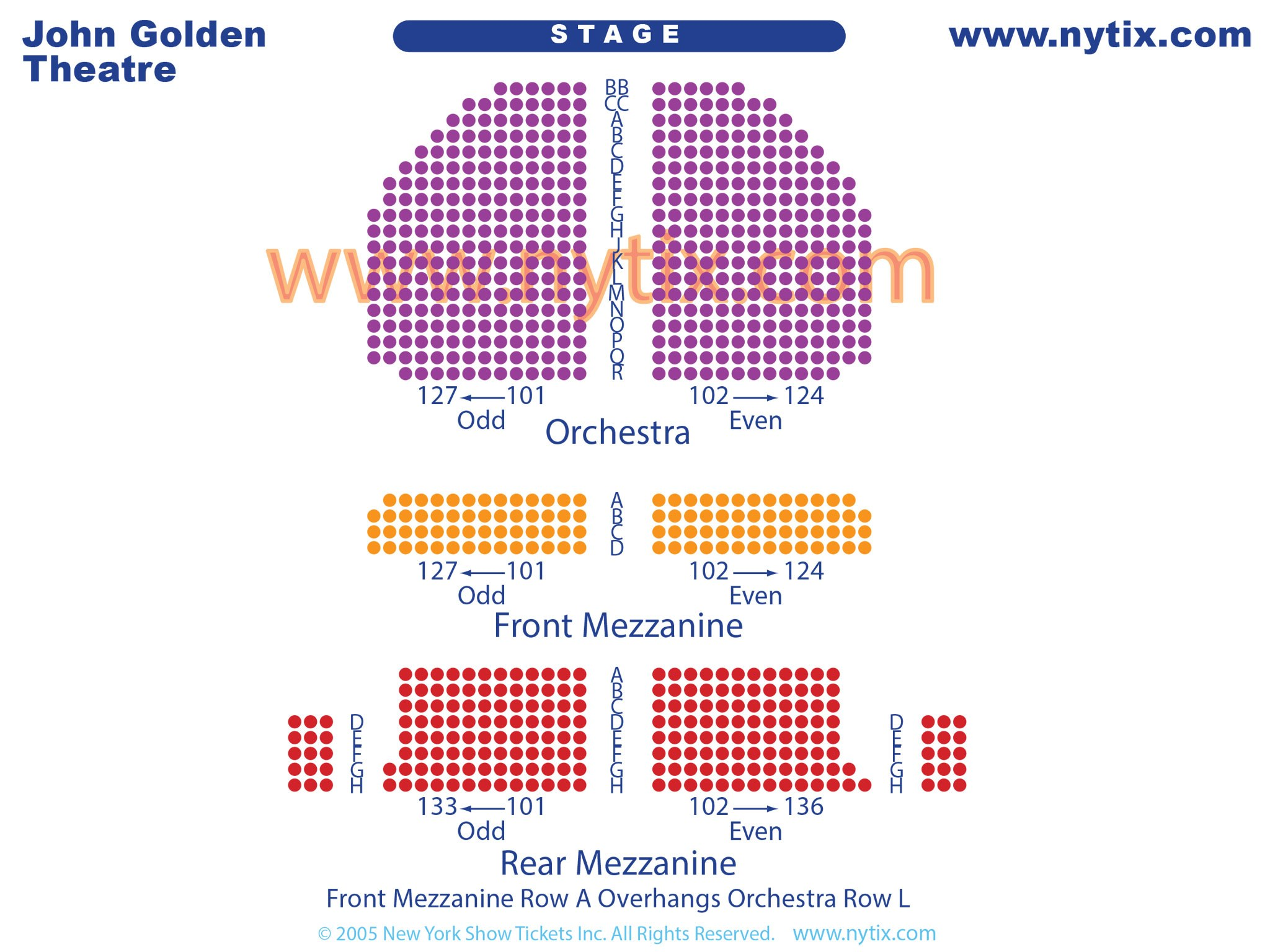 John Golden Broadway Theatre Seating Chart