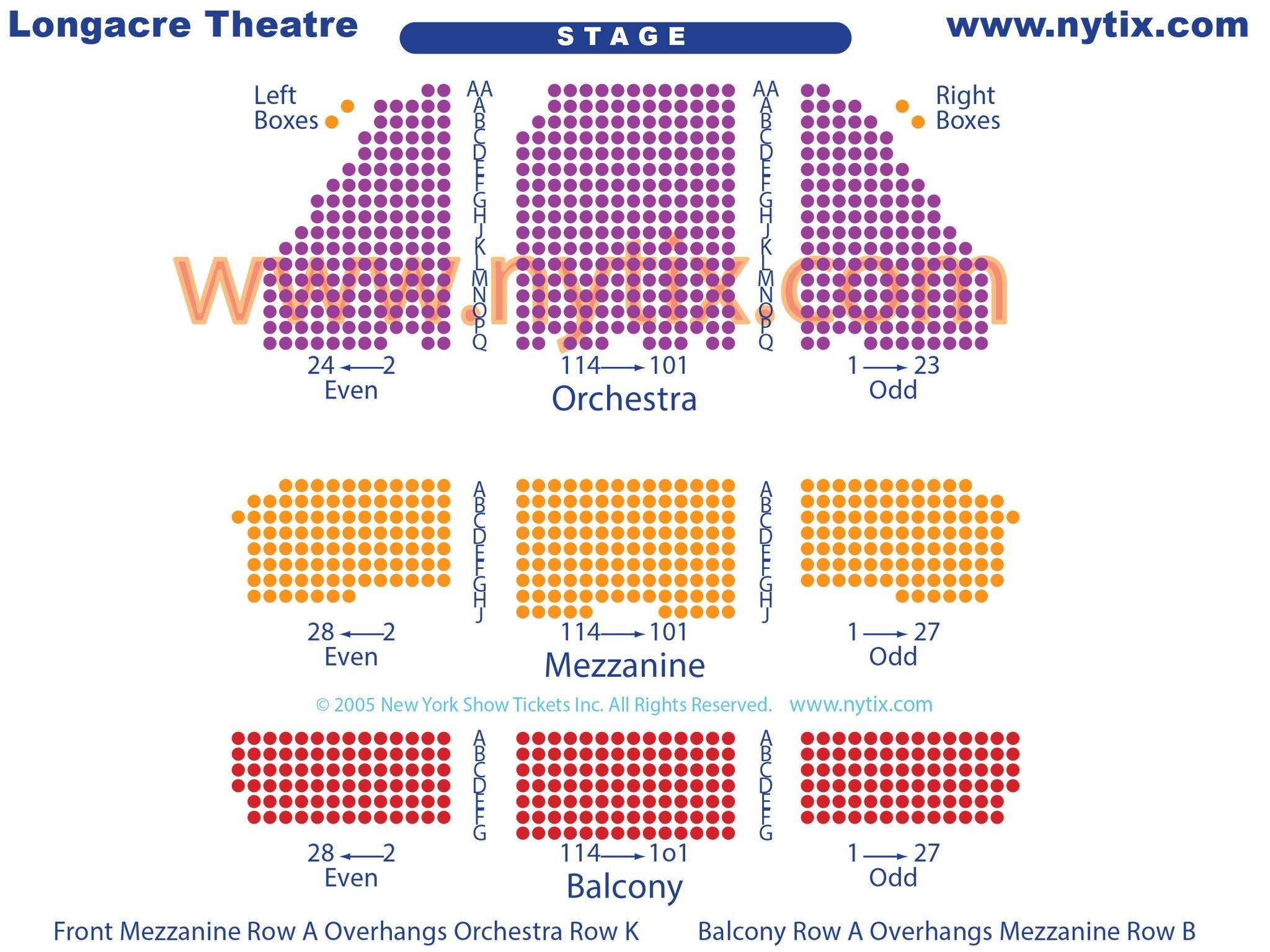Broadway Longacre Seating Chart