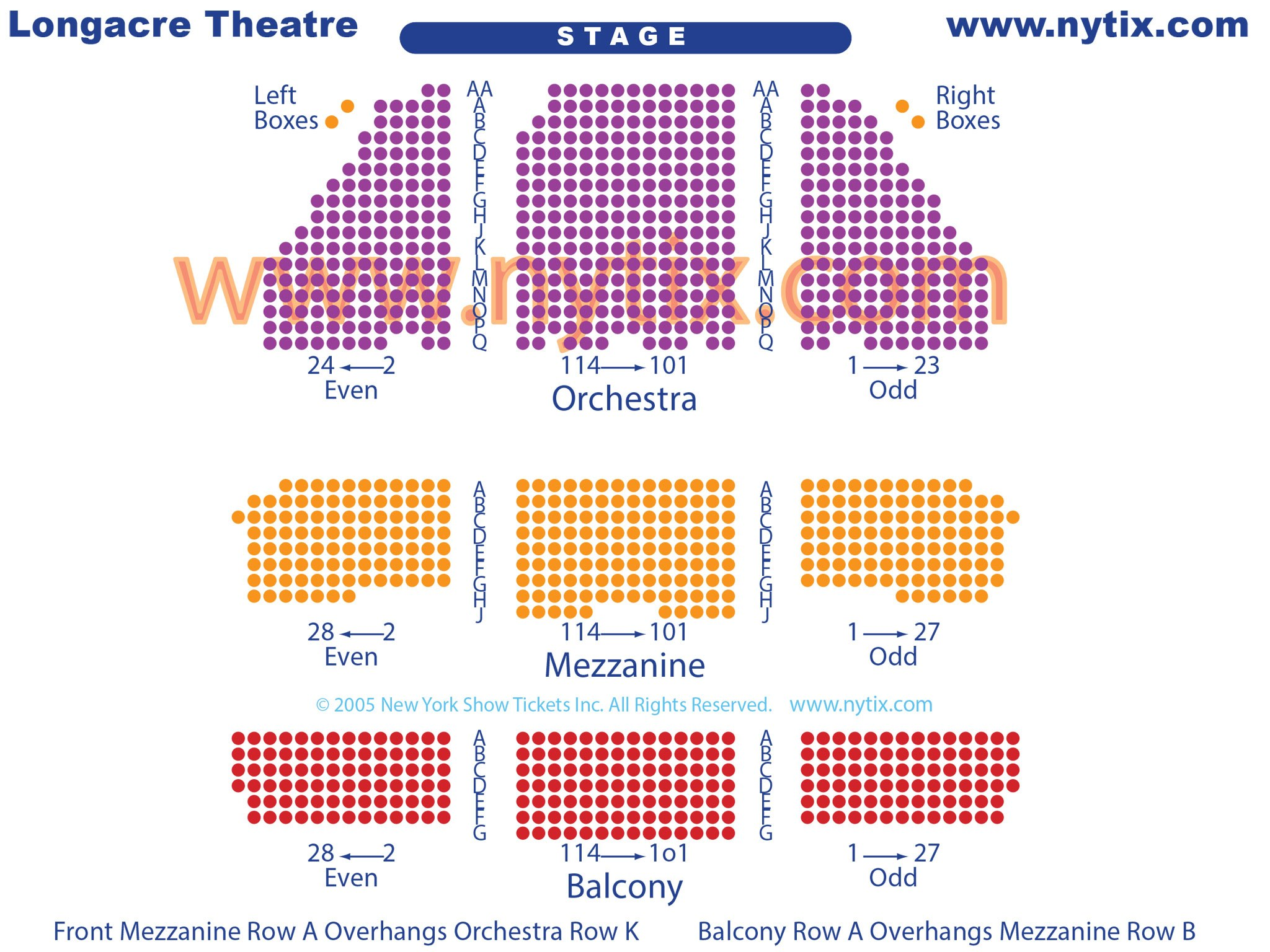 Broadway Longacre Seating Chart