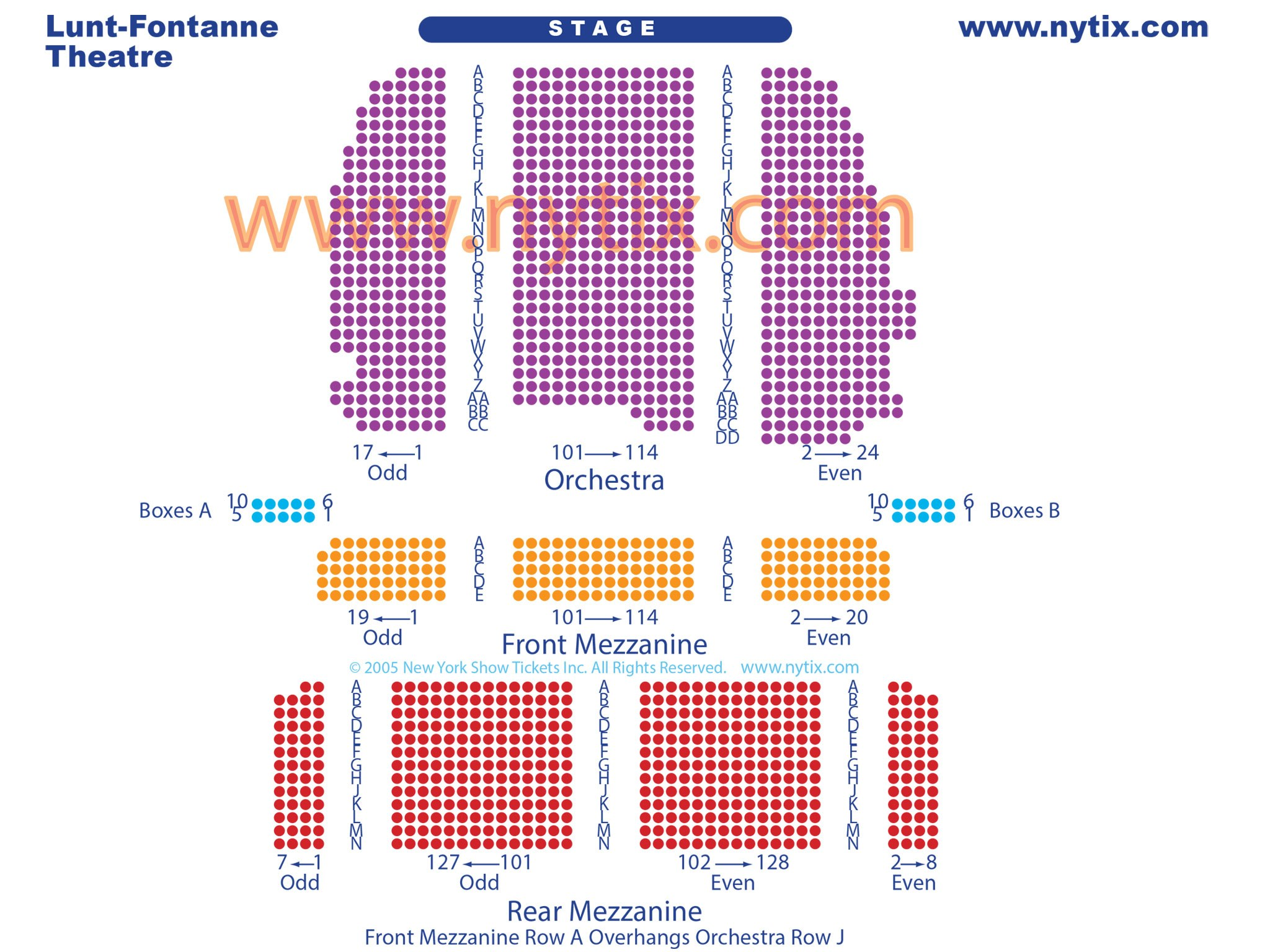 Lunt Fontanne Theatre Seating Chart