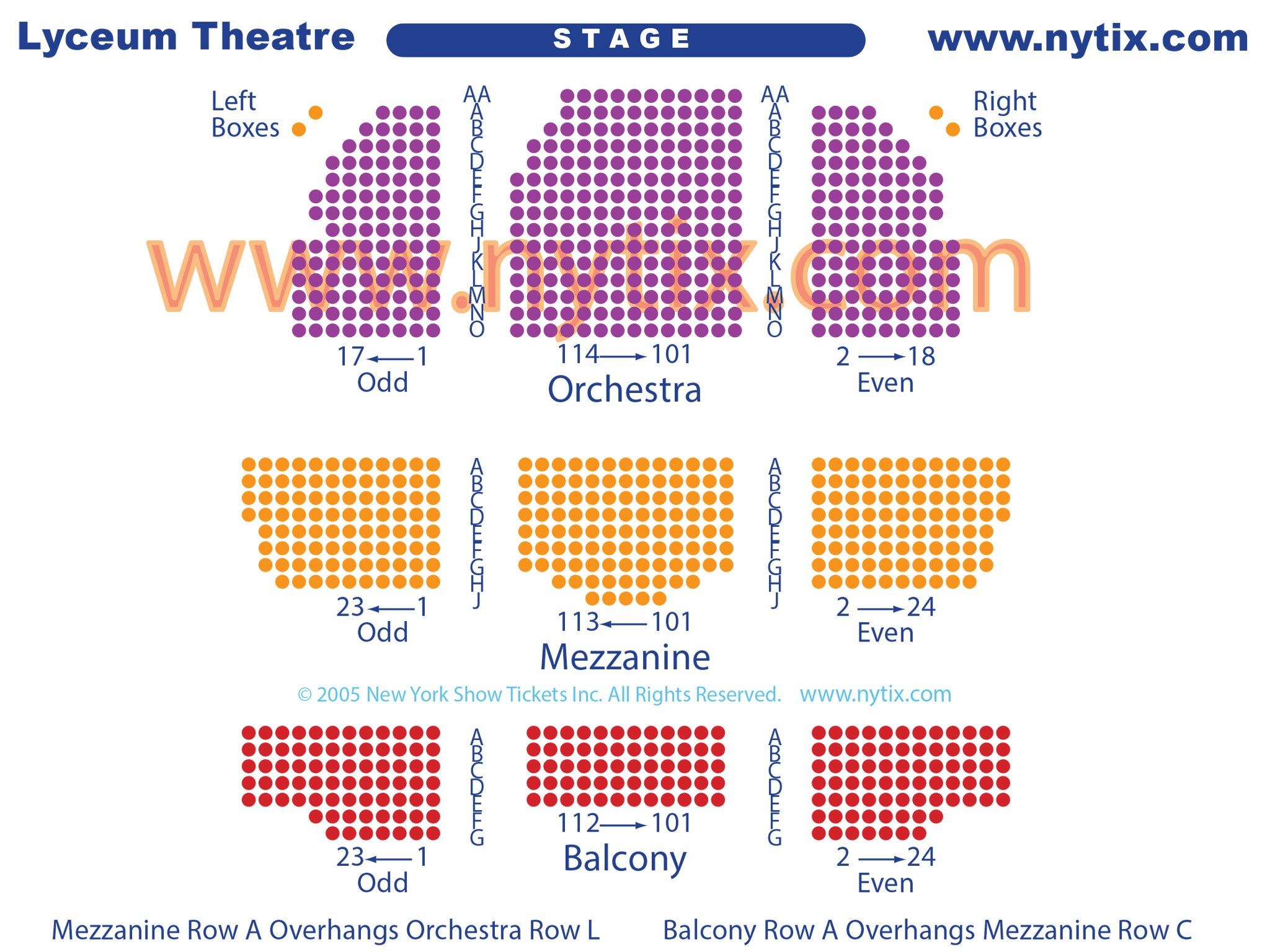 Lyceum Broadway Theatre Seating Chart