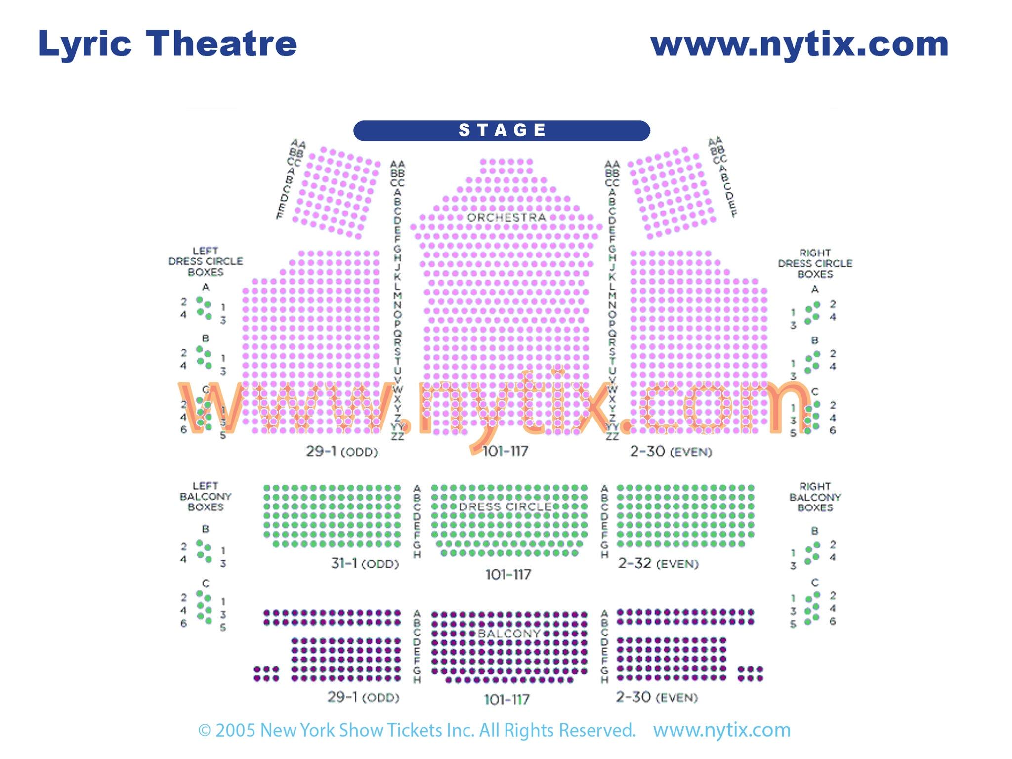 Lyric Theatre Seating Chart