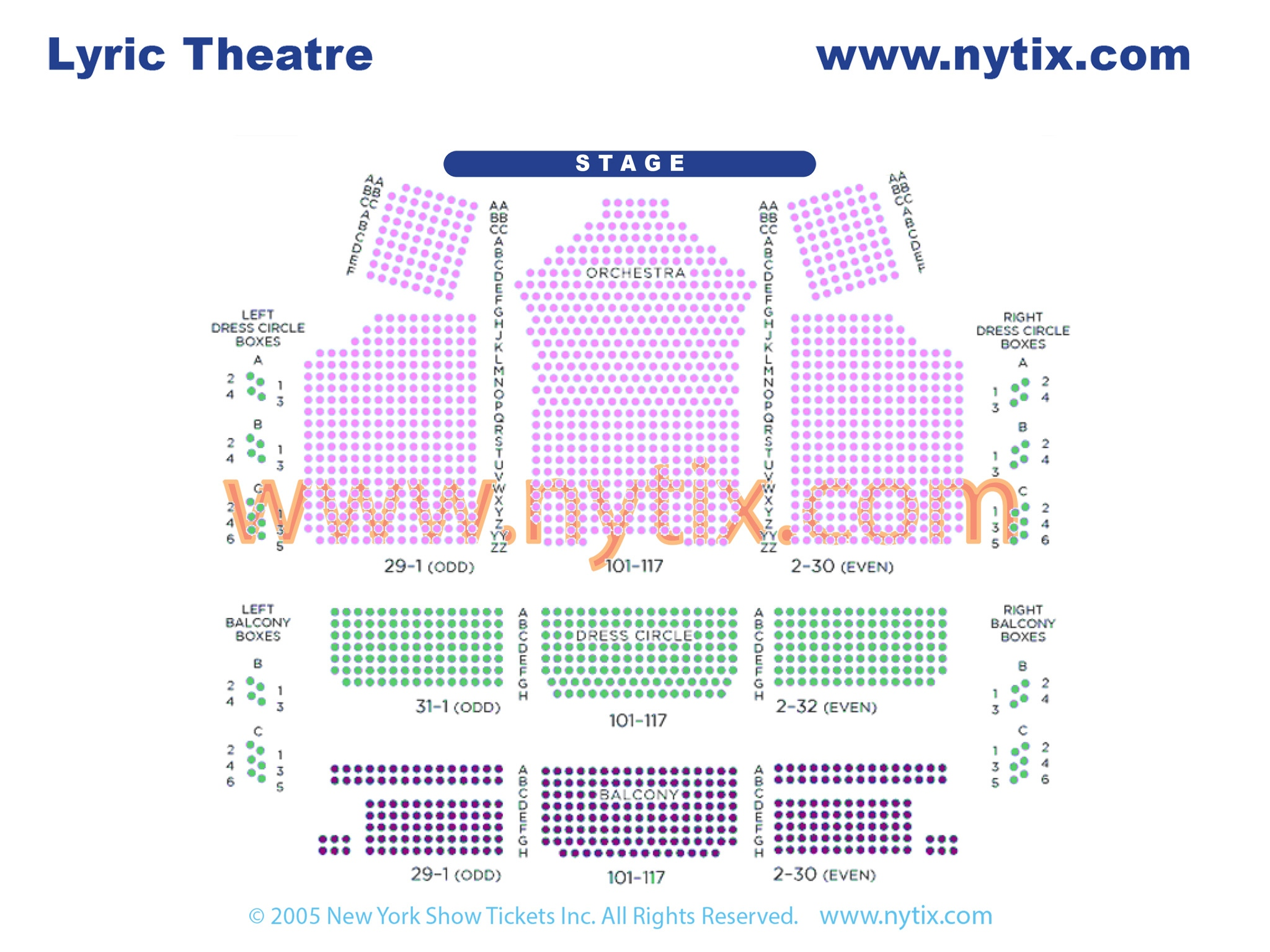 Lyric Theatre Seating Chart