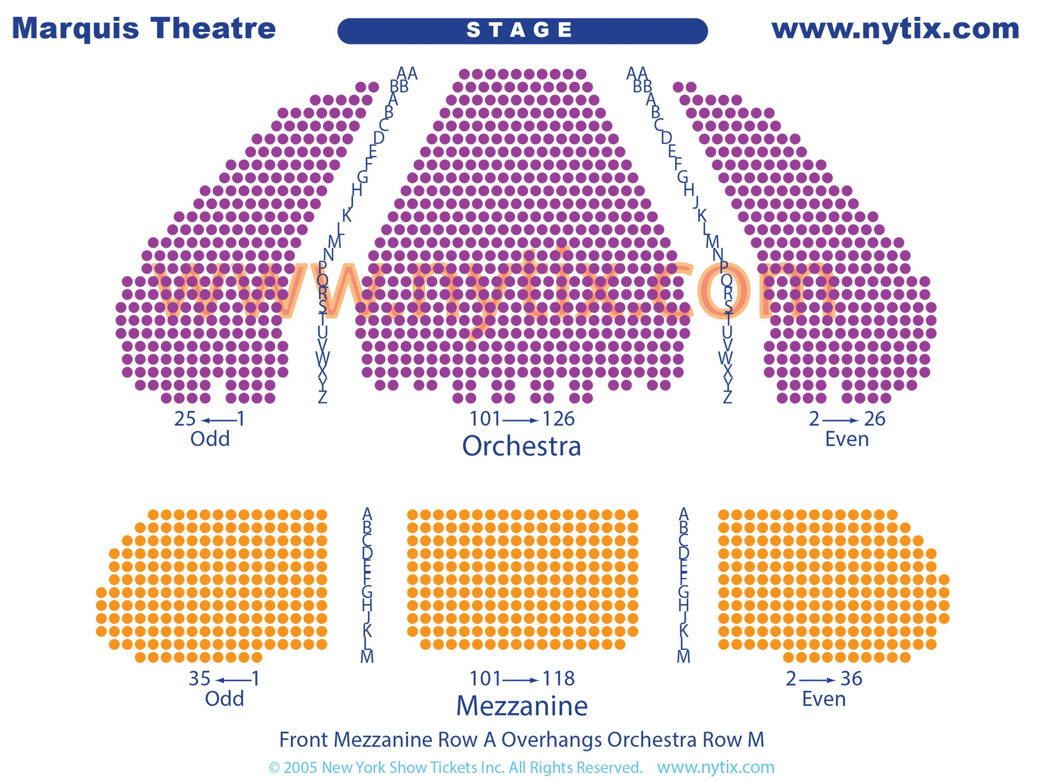 Broadway Theatre Marquis Seating Chart