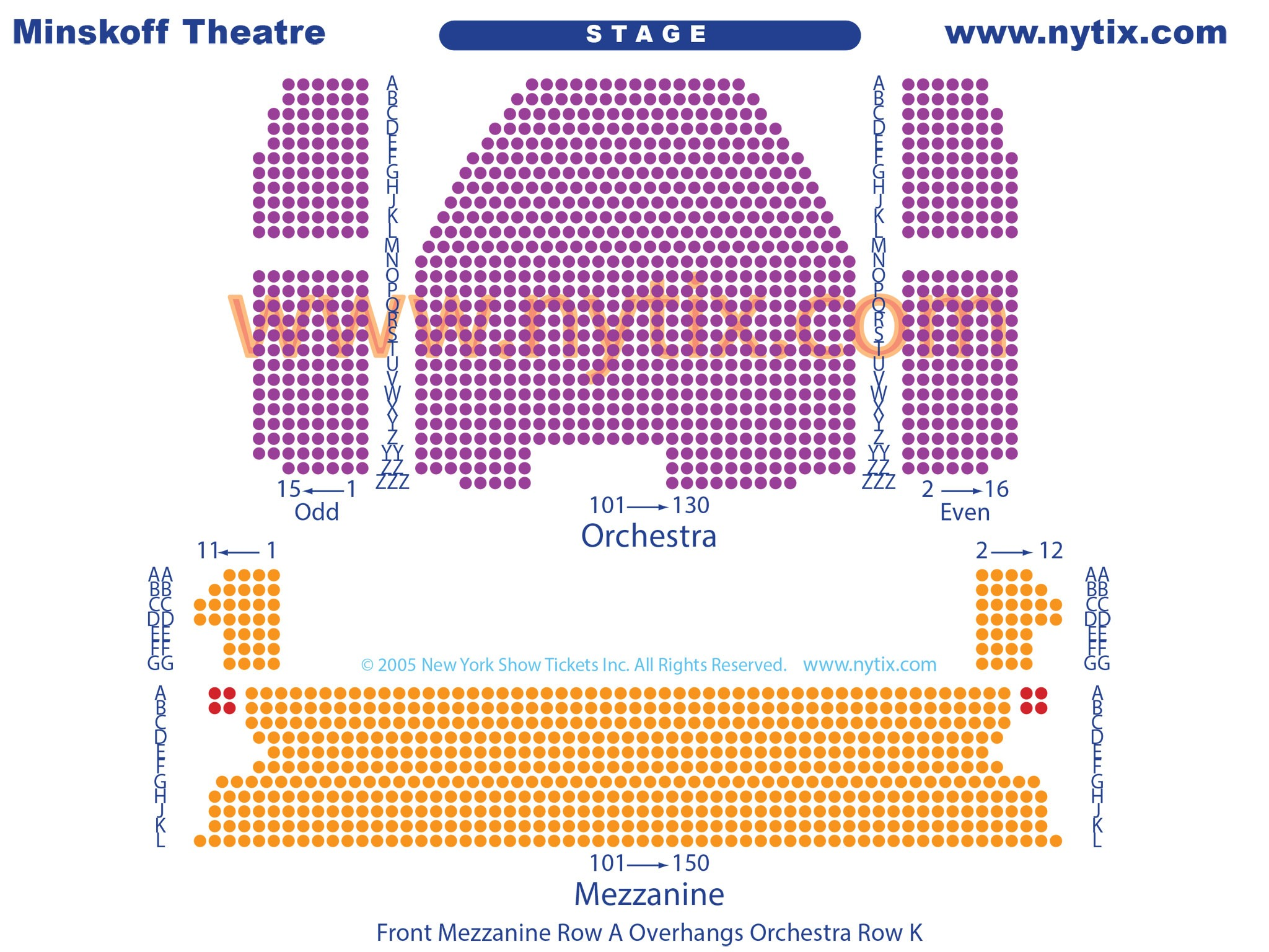 Minskoff Theatre Seating Chart