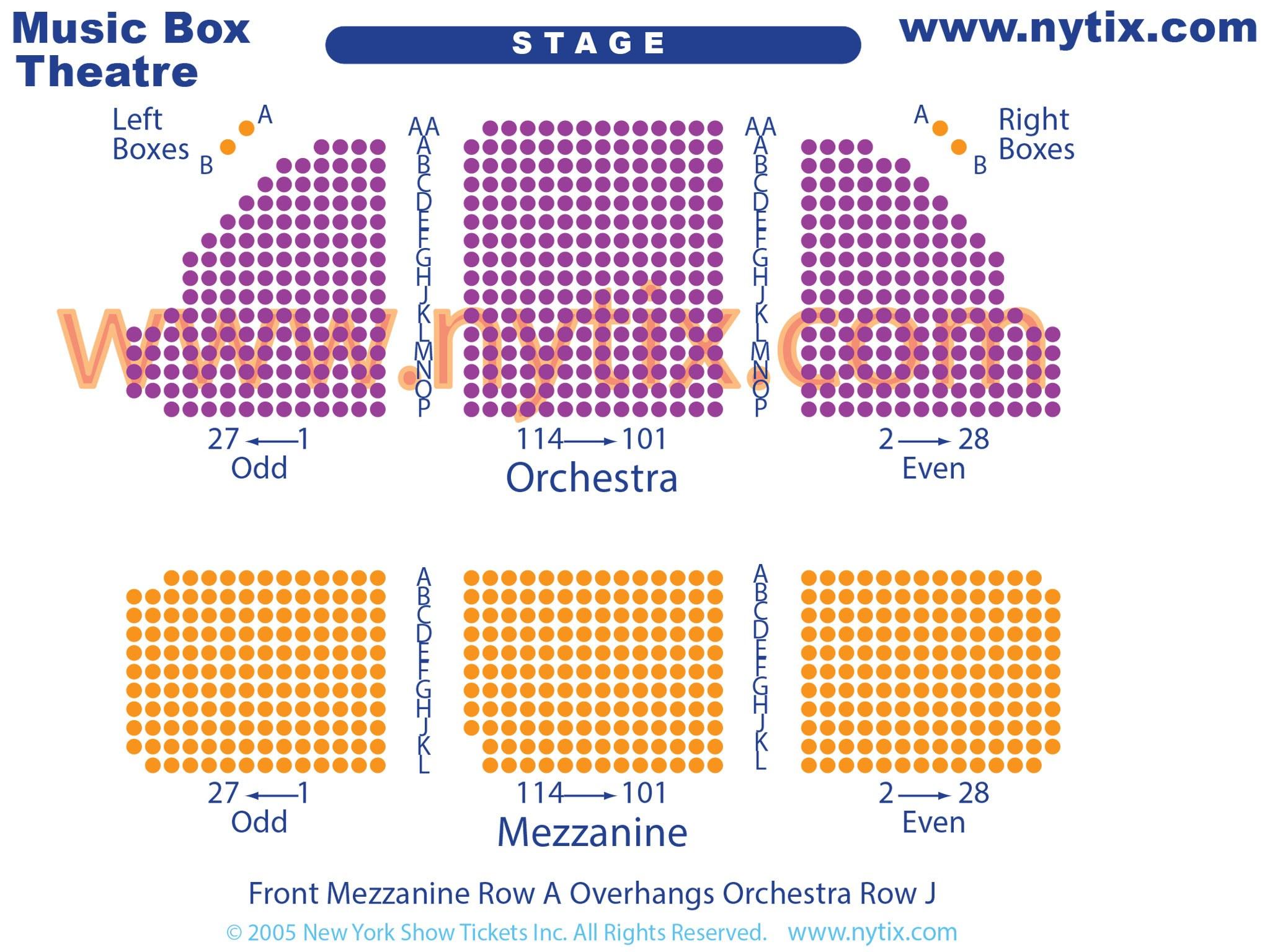 Music Box Theatre Seating Chart