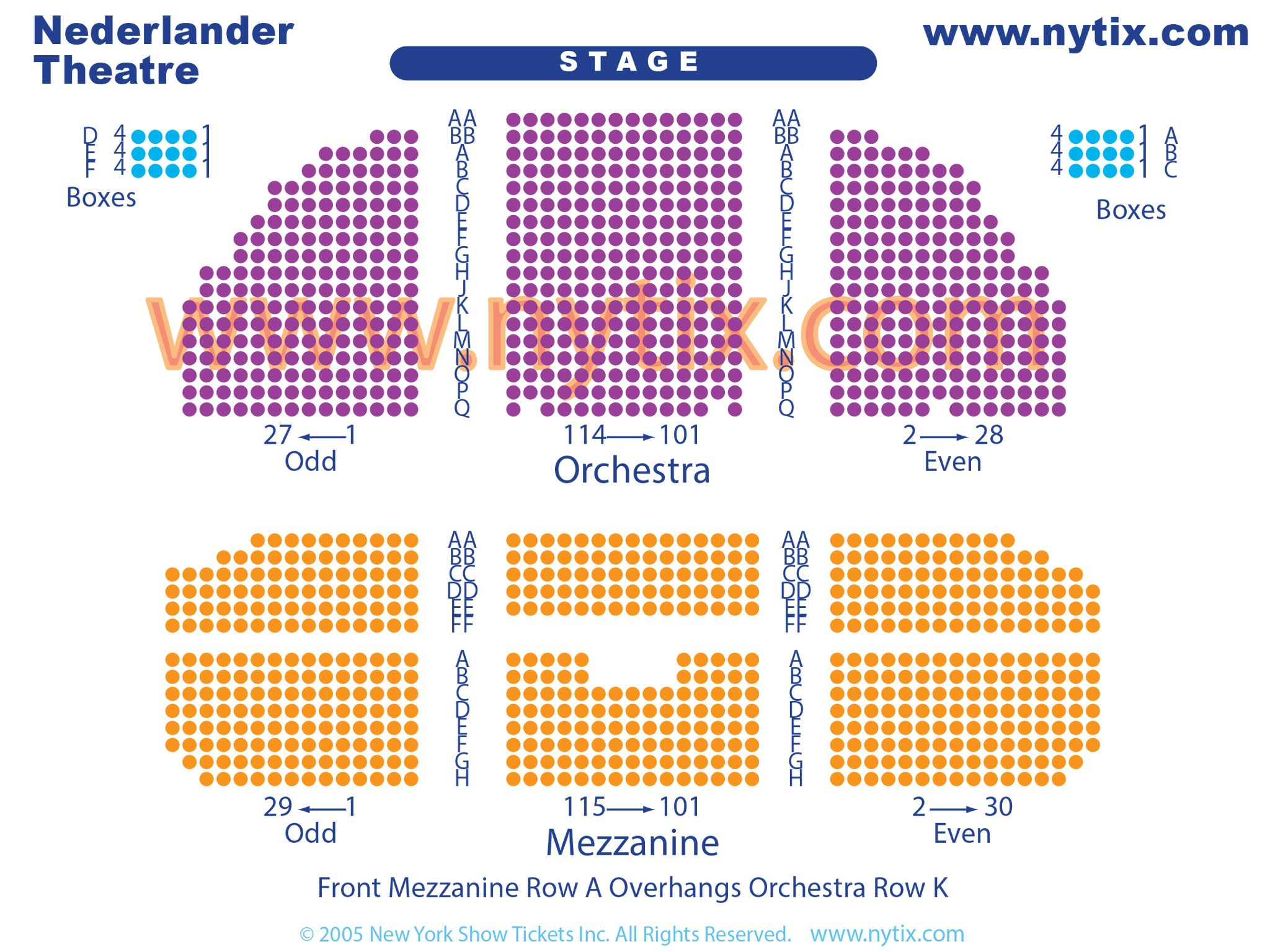 Nederlander Theatre Seating Chart