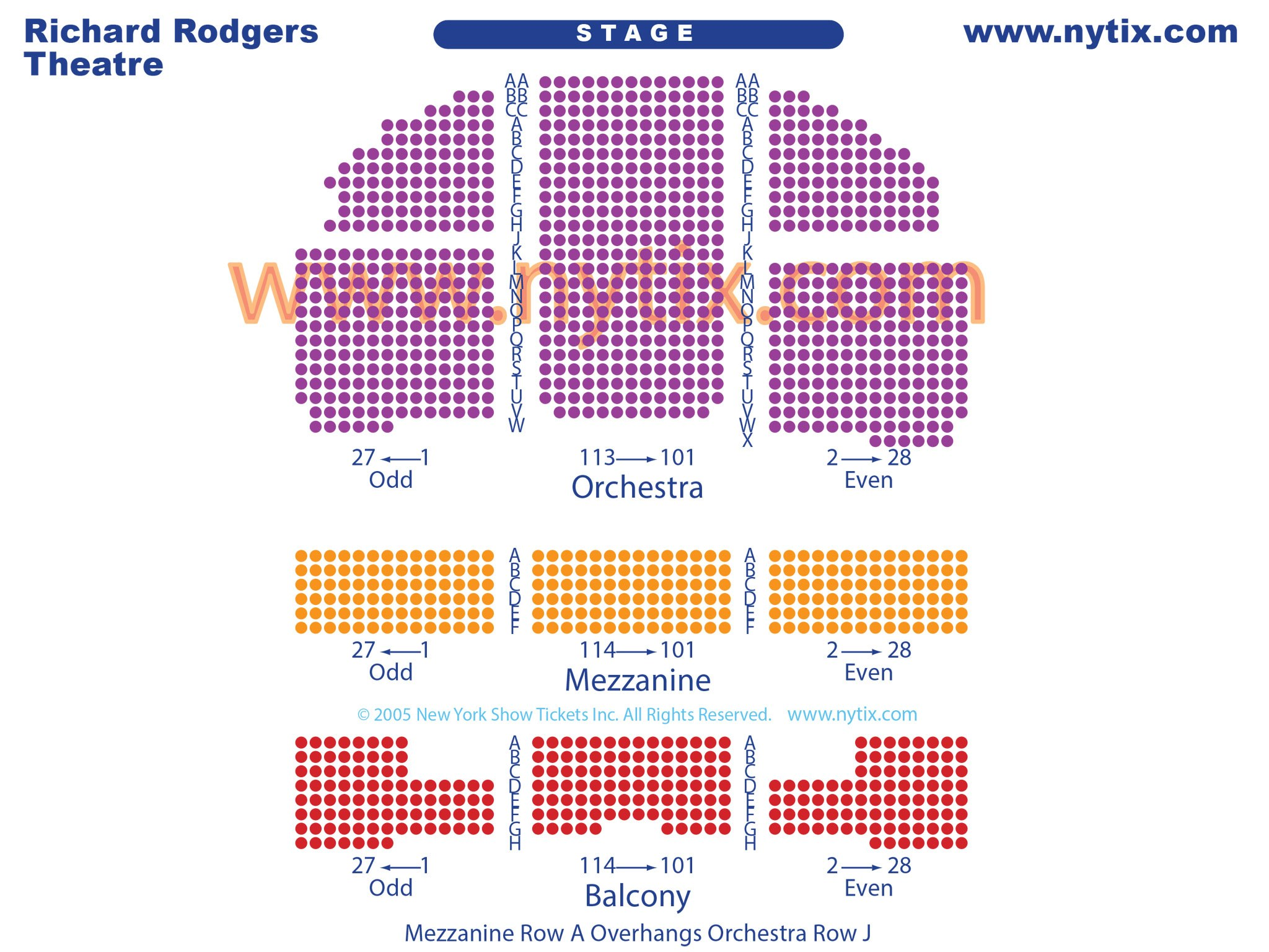 Richard Rodgers Theatre Seating Chart