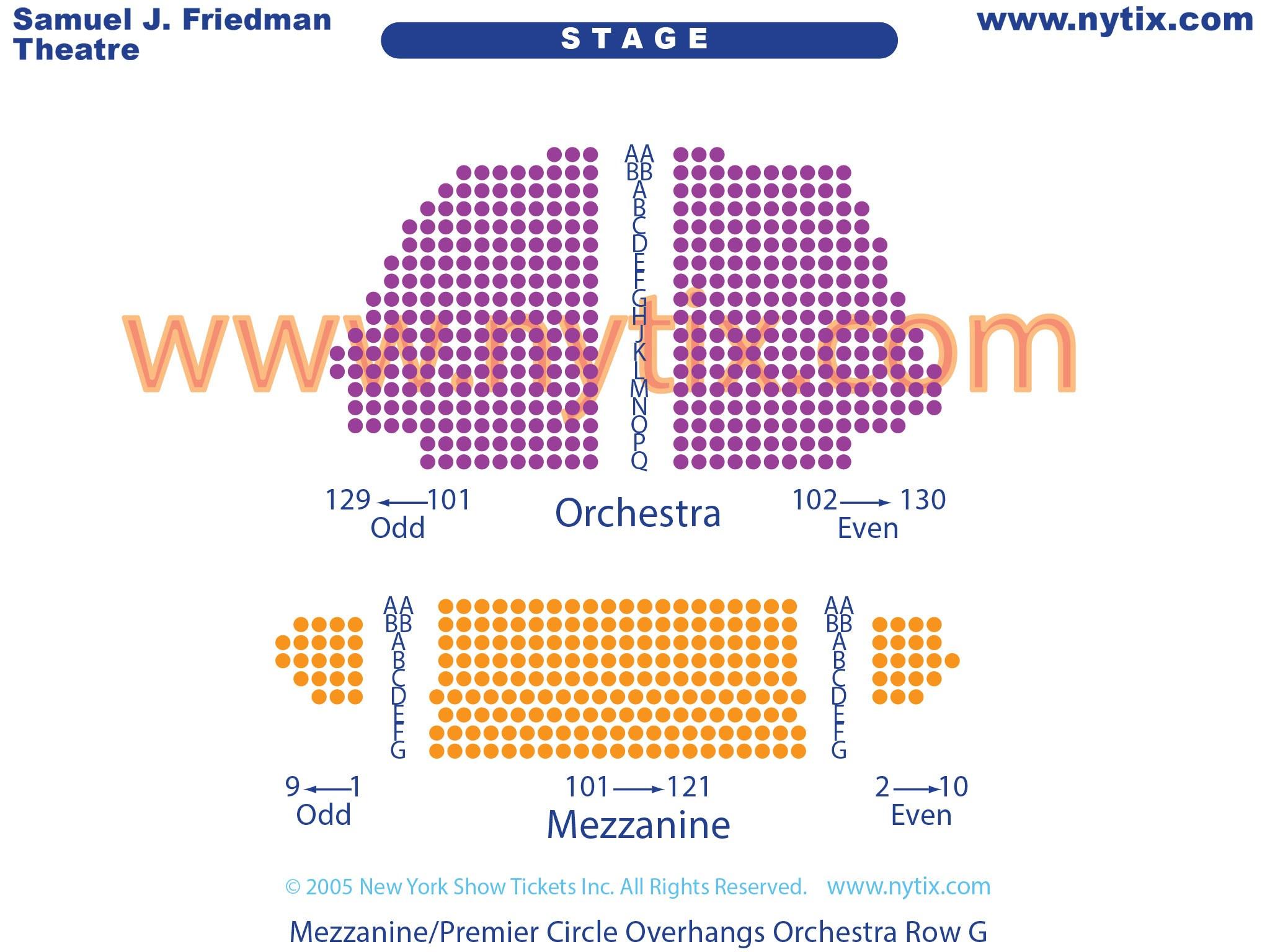 Samuel J Friedman Theatre Seating Chart