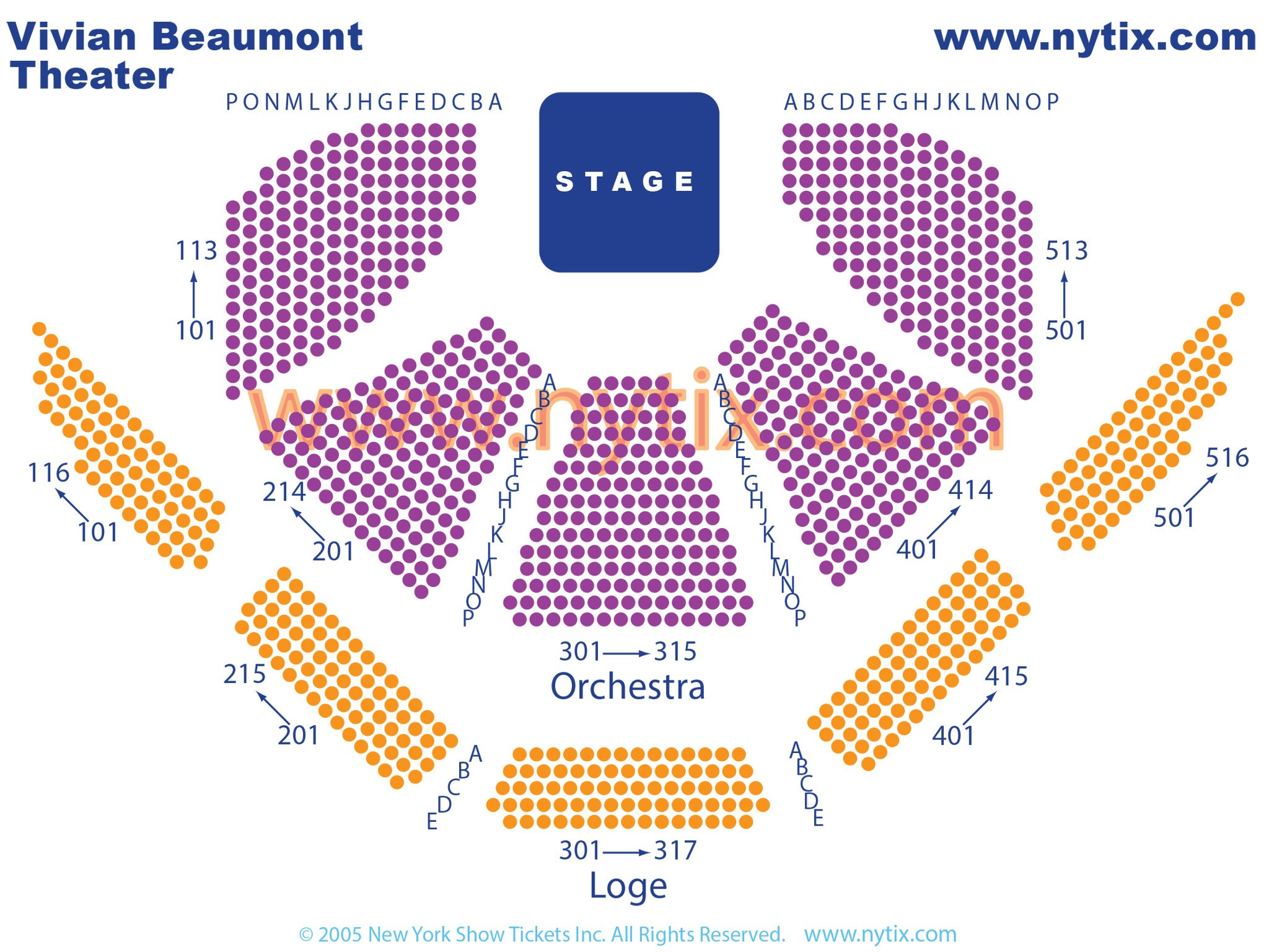Vivian Beaumont Theatre Seating Chart