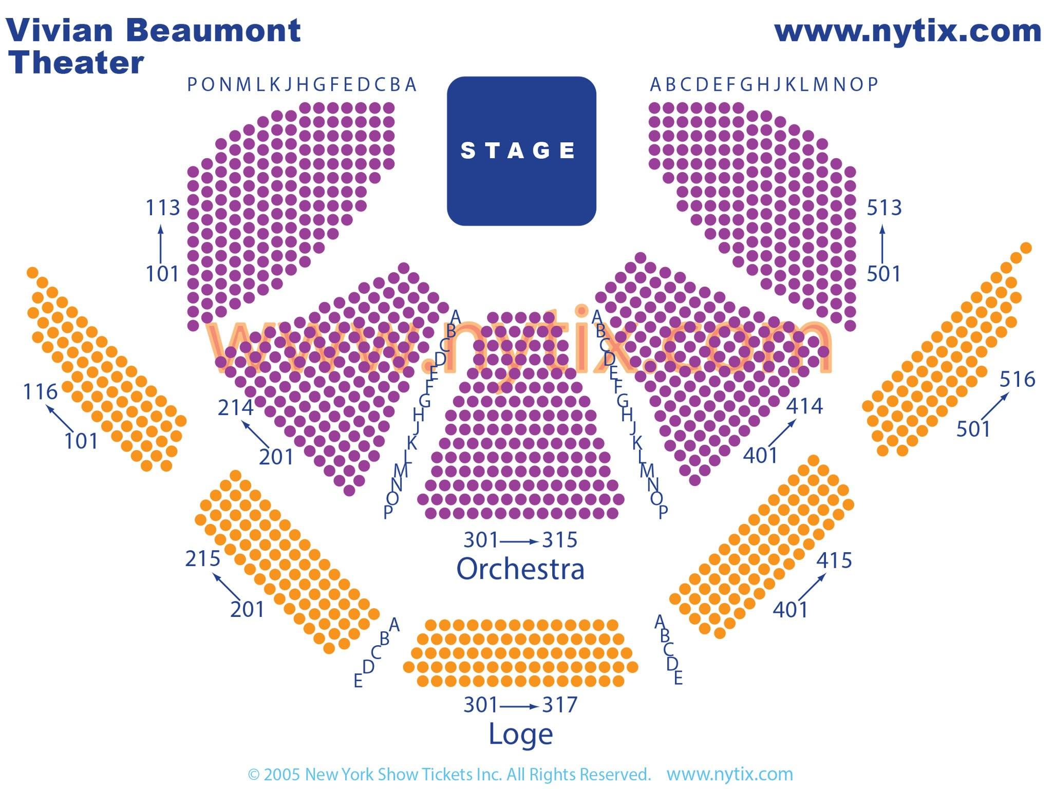 Vivian Beaumont Theatre Seating Chart