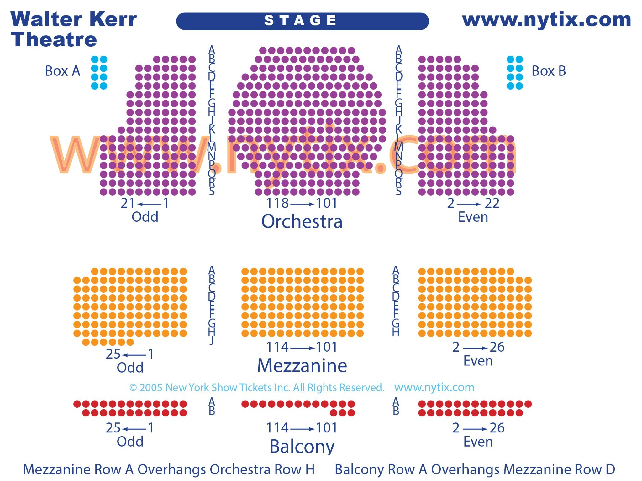 Walter Kerr Theatre Seating Chart